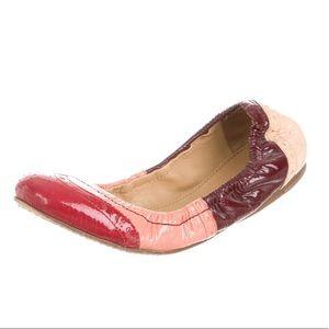 Miu Miu Patent Leather Colorblock Flats - Size 8